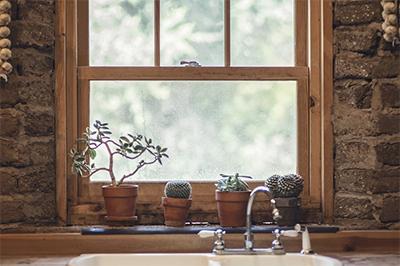 Fenêtre imitation bois